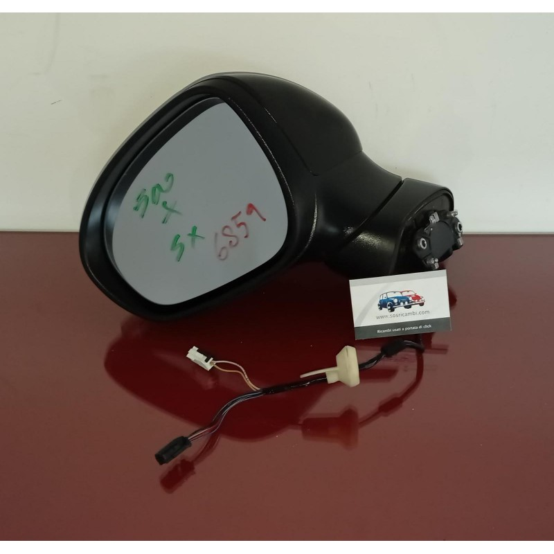 735603613 RETROVISORE SPECCHIO SINISTRO FIAT 500 X 6+2 PIN NERO