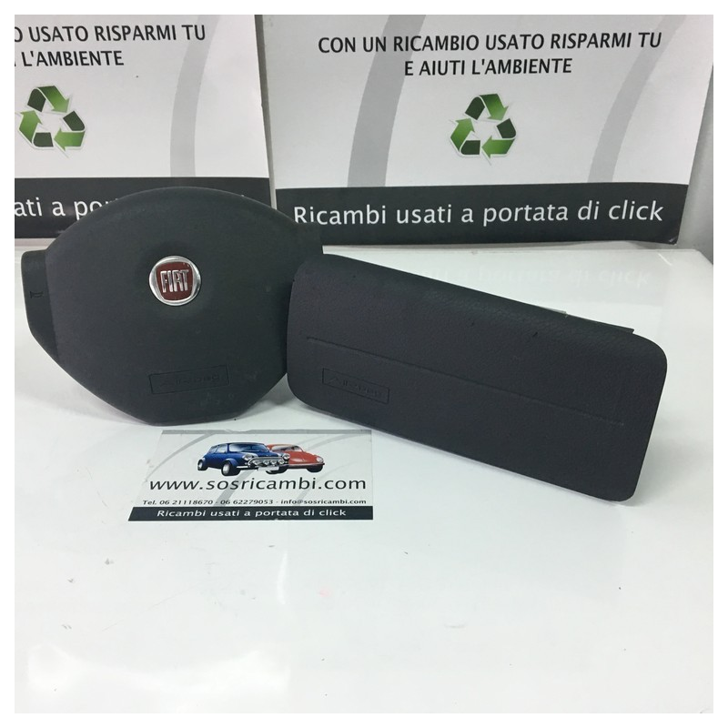 AIRBAG PASSEGGERO + VOLANTE PANDA LOGO ROSSO