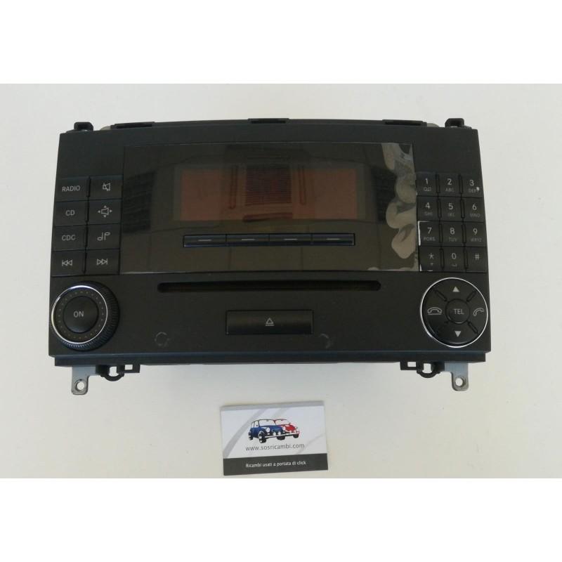 A1698201589 AUTORADIO MERCEDES CLASSE A W 169 display danneggiato